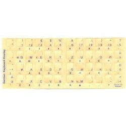 German Keyboard Stickers | German Language Keyboard Stickers | Blue Characters for Light Colored Keyboards | Computer Keyboard Stickers Labels  | German Deutsche