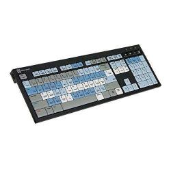 Logickeyboard Black Nero Slim Line Linux Keyboard | Shortcut Keyboard for Autodesk | SMOKE Linux | English Keyboard | Computer Keyboard | Typing | LKBU-SMOKE-BJPU-US