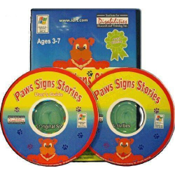 Paws Signs Stories   American Sign Language   Accessible Product   Special Education    CD-DVD Format