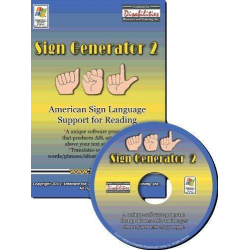 Sign Generator Software   American Sign Language Support for Reading   Accessible Product   Special Education    CD-DVD Format