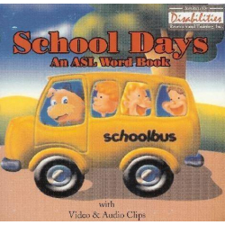 School Days   ASL American Sign Language Word Book   Windows Only   Accessible Product   Special Education    CD-DVD Format