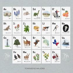 Illustrated Texas-themed Alphabet Cards | English Alphabet Flashcards | ABC Printable Flash Cards | Educational Learning Resources | Language Learning Market