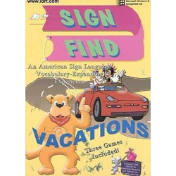 Sign Find - Vacations CD-ROM | Vocabulary | Accessible Product | Special Education  | Physical CD Format