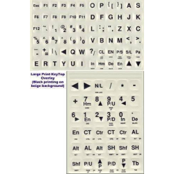 DataCal Large Print Keyboard Stikers | For Desktop and Laptop | Black Letters Non-Transparent | Computer Keyboard Stickers Labels | English