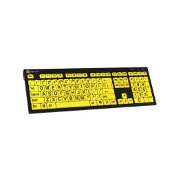 LargePrint Black on Yellow - PC Nero Slim Line Keyboard  | International Keyboards Large Keys | English Keyboard | Uppercase letters | Computer Keyboard | Typing