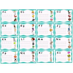 English alphabet tracing cards