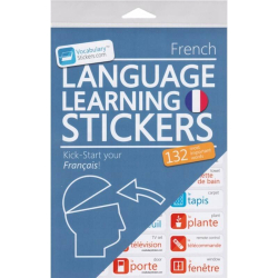 French Language Learning Stickers | French - Français Stickers | Language Learning Stickers | French words | Stickers for Home or Office | French - Français