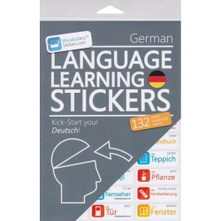 German Language Learning Stickers | German - Deutsch Stickers | Language Learning Stickers | German words | Stickers for Home or Office | German - Deutsch
