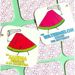 Half + Medio: Fruits | A Dual Language Memory Card Game | Language Learning Games | Spanish Vocabulary | Fruits - Frutas | Spanish Español Game | Language Learning Market