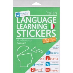 Italian Language Learning Stickers | Italian - Italiano Stickers | Language Learning Stickers | Italian words | Stickers for Home or Office | Italian