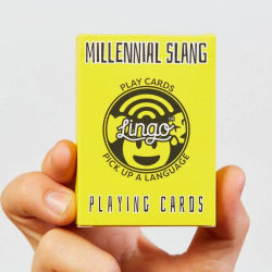 Millennial Slang Playing Cards | Original Paper Packing  | Learn Millennial English Phrases | Emoji | Language Learning Game Set | Useful English Phrases | Language Learning Market