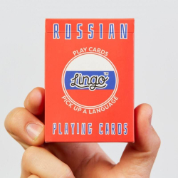 Learn Russian Playing Cards | Original Paper Packing | Bilingual English - Russian Travel Phrases | Pусский Russian Flag | Game Set | Useful Pусский Russian Phrases | Language Learning Market