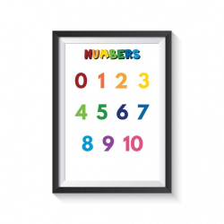 NUMBERS for kids   Educational poster   Preschool learning   Learn NUMBERS   Montessori   Classroom Poster   Printable   Print   Digital download   Smart Owl Prints