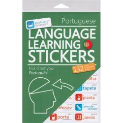 Portuguese Language Learning Stickers | Portuguese - Português Stickers | Language Learning Stickers | Portuguese words | Stickers for Home or Office | Portuguese - Português