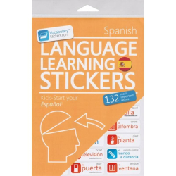 Spanish Language Learning Stickers | Spanish - Español Stickers | Language Learning Stickers | Spanish words | Stickers for Home or Office | Spanish - Español