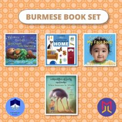 Burmese - English Board + Picture Books  Set of Bilingual Books for Toddlers  Burmese Books  Raise Bilingual Kids  Teach Kids Burmese