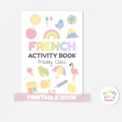 French Learning Activity Book  Printable  Learn French  Instant Download  Toddler Education  French workbook for Kids  Homeschool Resource  French - Français