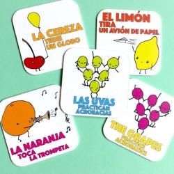 Half + Medio: Fruits | A Dual Language Memory Card Game | Language Learning Games | Vocabulario en Ingles | Fruits - Frutas | Spanish Español Game | Language Learning Market