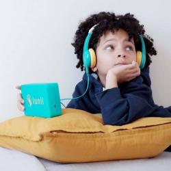 Kids Headphones | Safe Headphones for Children | Volume Limiting | Smart headphones | Lunii My Fabulous Storyteller