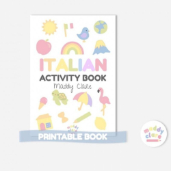 Italian Learning Activity Book  Printable  Learn Italian  Instant Download  Toddler Education  Italian workbook for Kids  Homeschool Resource  Italian - Italiano