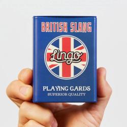 British Slang Playing Cards | Sturdy Travel Case | Learn British English Phrases | British Flag Cards | Language Learning Game Set | Useful British English Slang Phrases | Language Learning Market