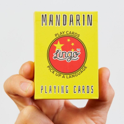 Learn Mandarin Chinese Playing Cards | Original Paper Packing | Bilingual English - Chinese Phrases | 中文 Chinese Flag | Game Set | Useful Chinese Travel Phrases | Language Learning Market