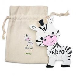 English + Mandarin Chinese Zebra Puzzle | Bilingual Puzzle | Wooden Toy | Montessori Learning | Chinese Language Toys | Play Set | Language Learning Market