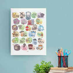 Spanish Alphabet Poster | ABC Animals | Instant Download | Printable Poster | Abecedario en Español | Spanish Alphabet for Kids | Language Learning Market