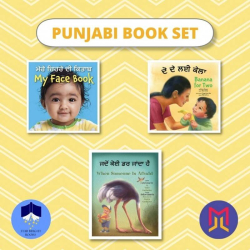 Punjabi ਪੰਜਾਬੀ - English Board + Picture Books  Set of Bilingual Books for Toddlers  Portuguese Books  Raise Bilingual Kids  Teach Kids Punjabi ਪੰਜਾਬੀ