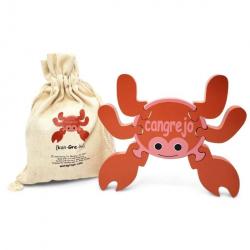 Spanish + English Crab Puzzle | Bilingual Puzzle | Wooden Toy | Montessori Learning Playset | Spanish Language Toys | Play Set | Language Learning Market