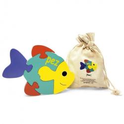 English + Spanish Fish Puzzle | Bilingual Puzzle | Wooden Toy | Montessori Learning | Spanish Language Toys | Play Set | Language Learning Market