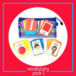 Spanish Vocabulary Fash Cards | Card Pack #1 | Spanish for Kids | Colors and Shapes | Bilingual Education | Teach Kids Spanish - Español | Language Learning Market