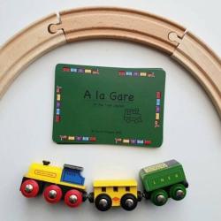 French Flashcards - Trains | Bilingual Education | Language Learning Flashcards | Teach Kids French | Homeschool Resources | Bilingual French - English Flashcards