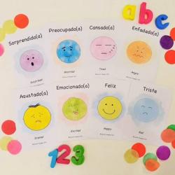 Spanish Flashcards - Emotions   Bilingual Education   Language Learning Flashcards   Teach Kids Spanish   Feelings   Sentimientos   Spanish - English Flashcards