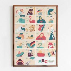ABC Poster for Kids - Bilingual Alphabet English & German | Educational Wall Art | Vocabulary & Letters | Preschool Print | Montessori Learning Resource