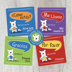 Spanish Printable Travel Phrases | Language Learning Flash Cards | Educational Material | Instant Download Flashcards | Toddler Education | Montessori Learning Resource | Language Learning Market