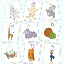 Portuguese English Alphabet Flashcards | Digital Download | Bilingual Alphabet Cards | Portuguese for Kids | Educational Games | ABC Flash Cards | Language Learning Market
