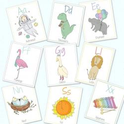 Spanish English Alphabet Flashcards | Digital Download | Bilingual Alphabet Cards | Spanish for Kids | Educational Games | ABC Flash Cards | Language Learning Market