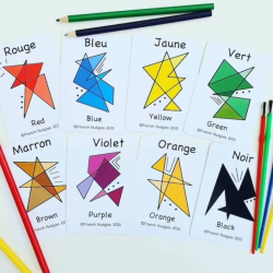 French Colours Flashcards | Bilingual Education | Language Learning Flashcards | Teach Kids Colours in French | Les Couleurs | French - English Flashcards