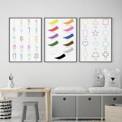 French English Bilingual Posters - Set of 3 | Nursery Art | Digital Download | Teach Kids French | Bilingual Education | Classroom Prints | Wall Art Decor | Language Learning Market