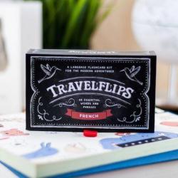 French Flashcards - Travelflips | Bilingual Cards | Language Learning Flashcard Kit | Basic French for Beginners | Learn French Vocabulary | French Français  - English | Language Learning Market