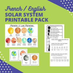 French Solar System Printable Pack | Learning Activity | Bilingual Education | Solar System and Moon Phase | Teaching Tools and Resources | Language Learning Market