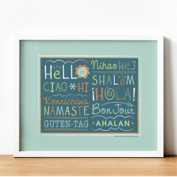 Hello Around the World Poster | Classroom Decor | Instant Download | Printable Wall Art | Educational Material | Multi-Language Poster | Language Learning Market