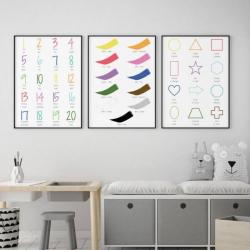 Italian English Bilingual Posters - Set of 3 | Nursery Art | Digital Download | Teach Kids Italian | Bilingual Education | Classroom Prints | Wall Art Decor | Language Learning Market