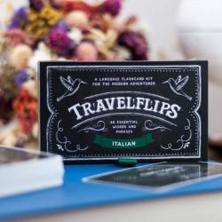 Italian Flashcards - Travelflips | Bilingual Cards | Language Learning Flashcard Kit | Basic Italian for Beginners | Learn Italian Vocabulary | Italian Italiano  - English | Language Learning Market