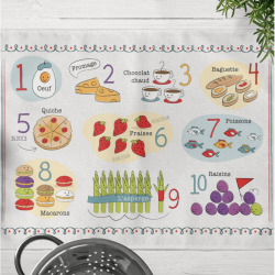 French Food and Numbers Print | Digital Download | Eductional Material | Printable Worksheet | Bilingual Education | Montessori Learning Resource | Language Learning Market