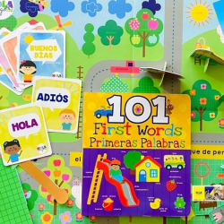 Spanish Activities for Toddlers   First Words / Primeras Palabras - Toddler Busy Box   Spanish for Kids   Spanish Vocabulary   Bilingual Education   Language Learning Market