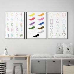 Spanish English Bilingual Posters - Set of 3 | Nursery Art | Digital Download | Teach Kids Spanish | Bilingual Education | Classroom Prints | Wall Art Decor | Language Learning Market
