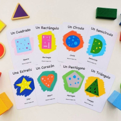 Spanish Flashcards - Shapes   Bilingual Education   Language Learning Flashcards   Teach Kids Shapes in Spanish   Figuras Geométricas   Spanish - English Flashcards