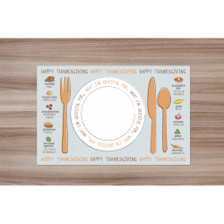 Spanish Thanksgiving Placemat | Educational Placemat for Kids | Teach Kids Spanish | Montessori Learning Resource | Table Placemat | English - Spanish